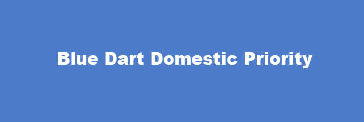 Blue Dart Domestic Priority