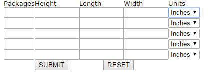 Blue Dart Volume Weight Calculator